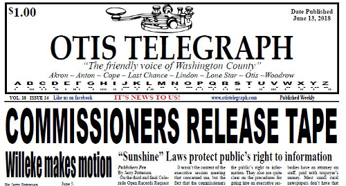 A 'friendly' weekly newspaper challenges a county commission's private meeting – and wins